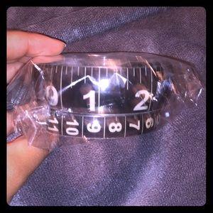 Black Measuring Tape Bangle Set